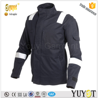 hot sell black workwear Jacket with Reflector Tape