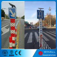 Road warning safety led traffic signal post