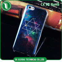 Hot new products for imd iphone case Blue Laser light Phone case for iPhone 6S TPU+IMD+Blue Laser for iphone 6s case