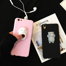 New 2018 Hot Sales Cute 3D Squishy Soft Kneading Squeeze Silicone Cell Phone Cover for iPhone X /7/7p/8/iphone 6s silicone case