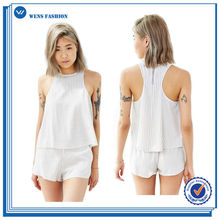 Factory Direct Sales Women Clothes Casual Tank Top Sex Black Girls Vest