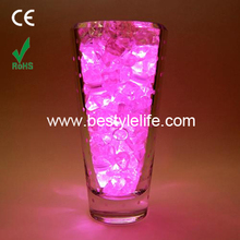 Club pack of 12 battery operated LED pink waterproof tea lights