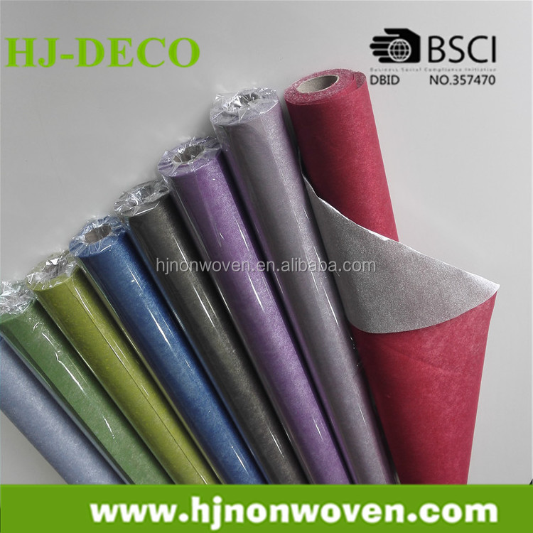 metallic coating newfashioned non-woven fabric for floral wrapper