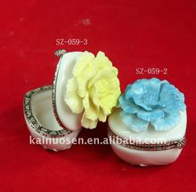 Beautiful porcelain jewelry box---SZ-059-2-3