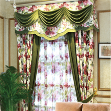 home & garden floral printed living room curtains