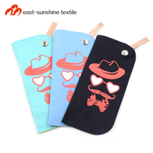 Custom soft and stylish microfiber mobile phone pouch with neck strap