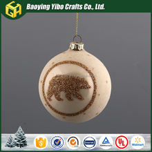 Stained glass baubles Christmas bear ornaments