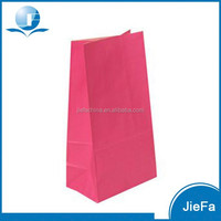 High Quality Pink Paper Lunch Bags