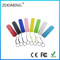 2014 fashionable best selling cylinder shaped aluminum power bank 2600mah 9 colors for mixed up