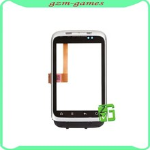 Wholesale price for HTC Wildfire S digitizer touch screen with front housing, white