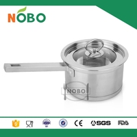 S/S 201 Milk Boiling Pot with high quality and non-stick bottom