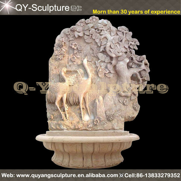 Classic Hand Carved Marble Wall Water Fountain