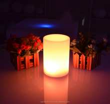 Remote control wireless color changing outdoor decor night light led table lamp led pillars