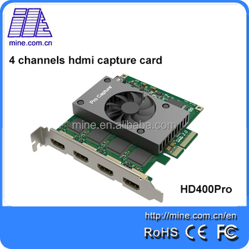 Linux HDMI capture card 4 channel capture PCI-e HD 2048P 60fps with sdk HD400-Pro