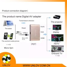 Factory direct wholesale USB To 1080p HDTV Cable Aluminum Digital AV Adapter