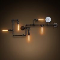 New design decorative vintage industrial style wall lights creative retro water pipe wall lamp
