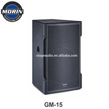Factory OEM professional 15 inch subwoofer speakers for Cinema,meeting room,Pub Morn GM-15
