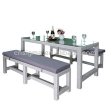 2015 Outdoor Furniture Resin rattan 3pcs Dining Table Set