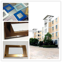 Silkscreen color modular switch panel tempered glass switch plates manufacturing