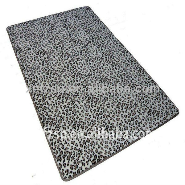 low pile 100% polyester printed wall to wall carpet