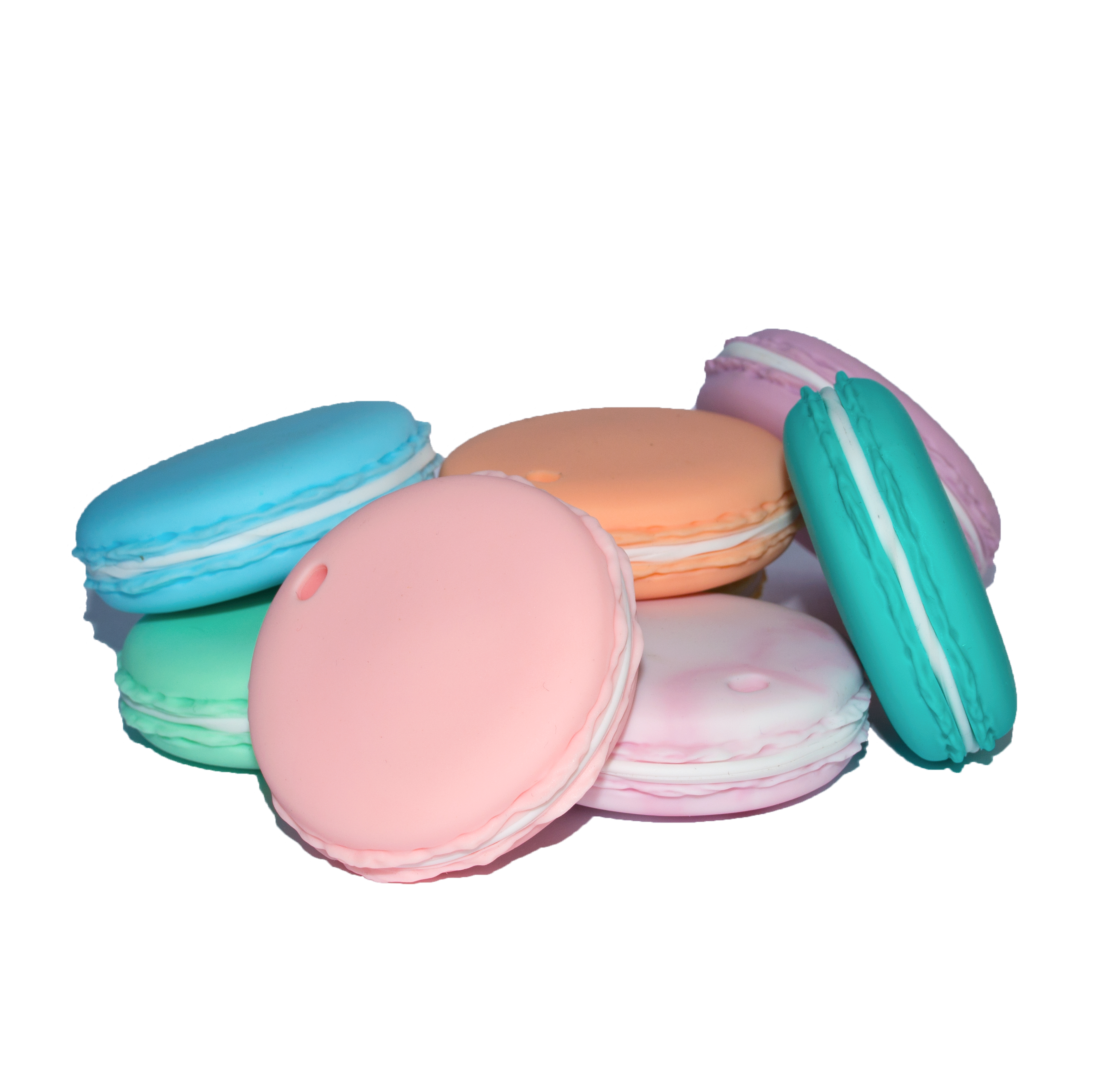 Food Grade Silicone Macaron Shaped Baby Teether