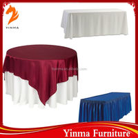 Factory wholesale table skirting designs for wedding
