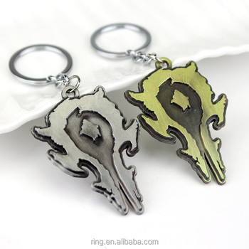 Hearthstone Heroes of warcraft WOW key chain keychain fashion legend legendary fire fireside Keychain