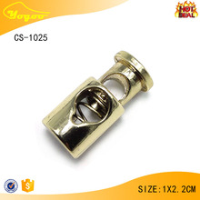 New arrival gold metal thread string spring end stopper for bag / clothing