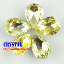 Factory direct sale crystal teardrop shape stone, crystal glass shaped stones for jewelry