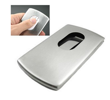 Stainless Steel Wallet Business Name Credit ID Card Holder Case, Portable Business Card Holder