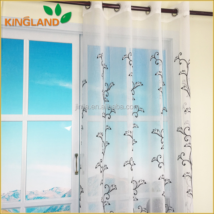 2017 100% polyester printing curtain fabric with printed patterns
