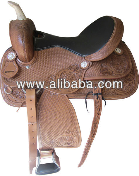 Natural DD Leather Western Barrel Racer Horse Saddles