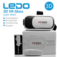2016 LEDO best sale google cardboard VR BOX,sex video 3D VR glasses