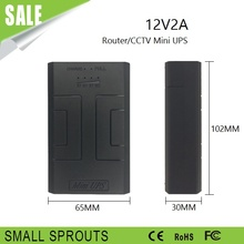 Hotest sales 12V 2A Power Supply dc online mini UPS battery for router and cameras ups