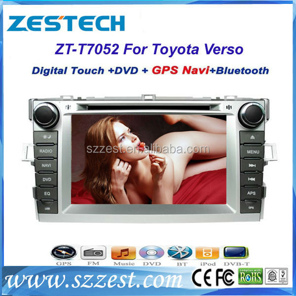 ZESTECH New auto dvd car dashboard dvd player gps stereo bluetooth car gps navigation for Toyota Verso
