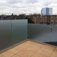 Aluminum u channel balcony railing privacy screen