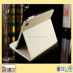 New fashion diamond leather flip case for ipad air 2,Tablet case for ipad air 2