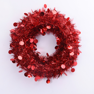 Huandi Wholesale Party Decoration Wire Frame Wreath Christmas Decoration Supplies