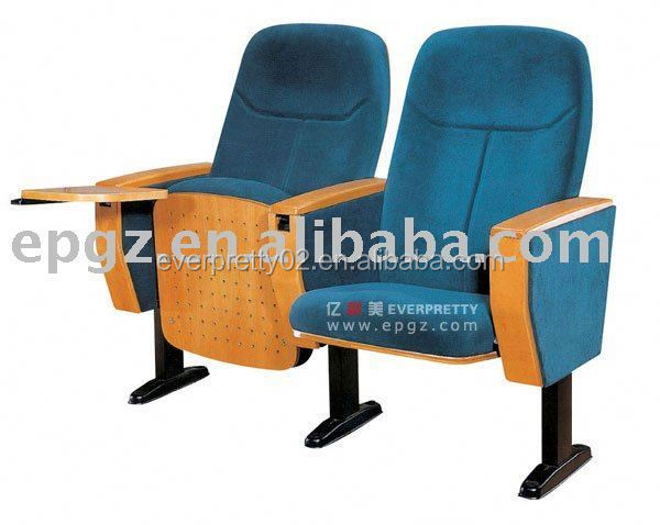 VIP folding fabric auditorium seat with writing table