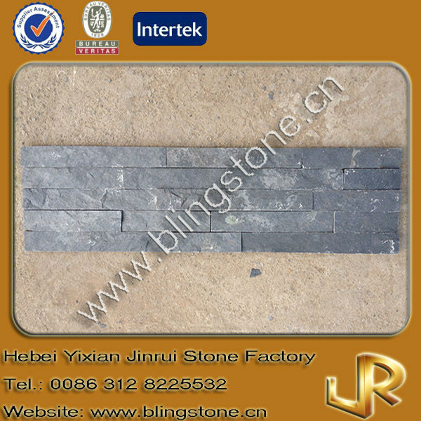 Natural decorative black slate