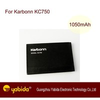 Rechargeable Factory Price Li-ion mobile battery KC750 3.7V 1050mA cell phone batteries For Karbonn