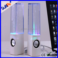 Home Decoration Gift Water Dancing Fountain Speaker with LED Color Light