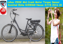 japan 250w 8fun Mid drive motor electric bike kit city electric bike 36V nexus 3-6-7 speed KCEB068