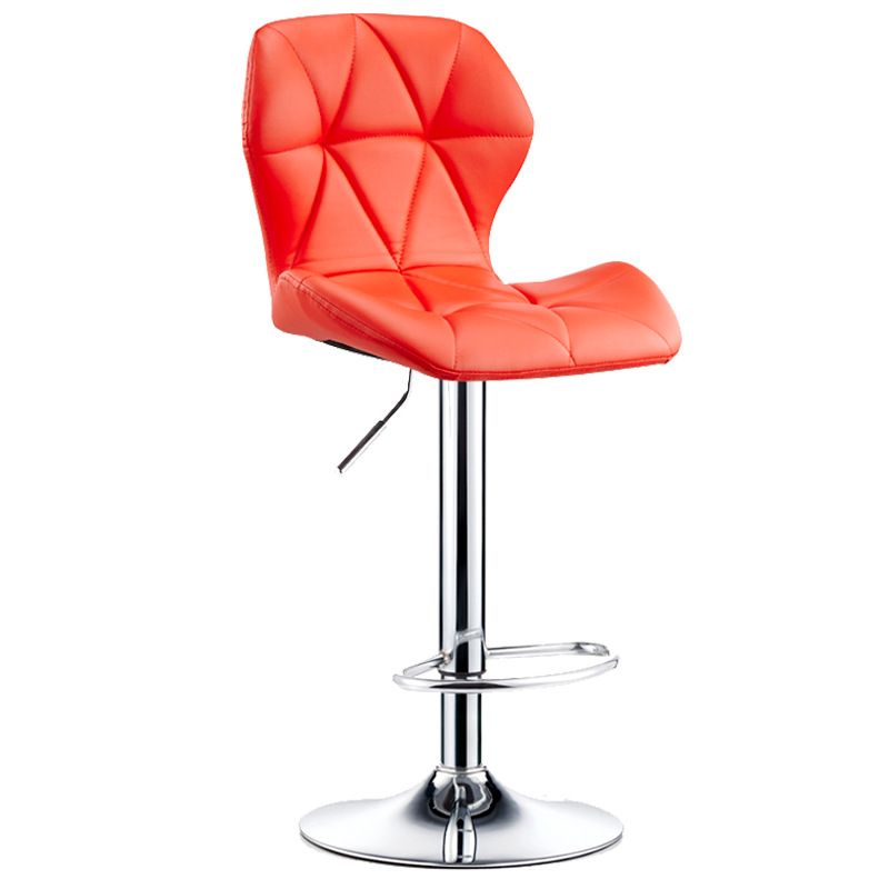 New Design Adjustable Swivel shiny Look Bar Stool Metal Bases Bar Chair with footrest coffee shop chair