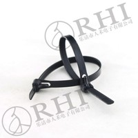 9*800mm wholesale self locking advanced uv white and black plastic wire cable ties