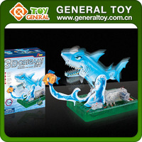 3D Paper Model Toy For Children Gift Electric Shark 3D Origami