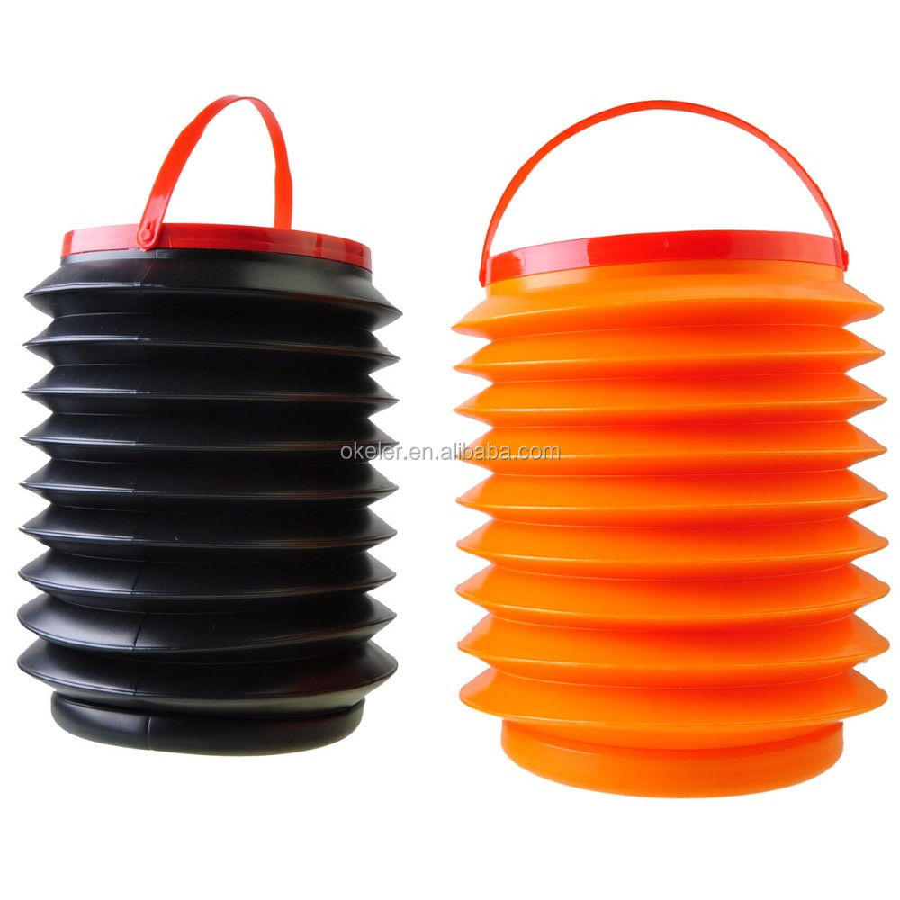 2016 Hot Selling Wholesale 4L Water Large Capacity Foldable Plastic Pail for Car Cleaning Camping