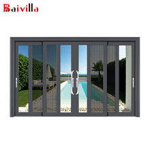 new designs 4 panels aluminium sliding doors and screens for residential patios