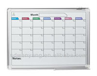 MP-97 wall mounted aluminum framed month planner drawing board