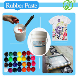 Machine printing white /transparent paste for Tshirt screen printing